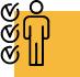 Checklist with a person icon.