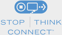 Stop Think Connect logo.