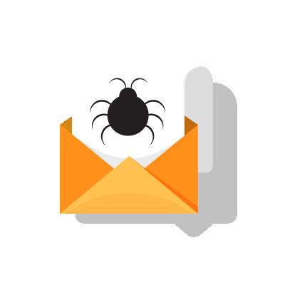 Malware em email sobre cibersegurança.