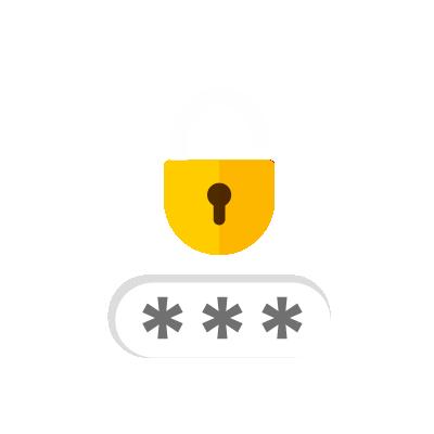 Cadeado e senha como as ferramentas de cibersegurança.