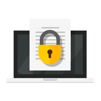 cadeado fortificando cibersegurança de conteúdo digital
