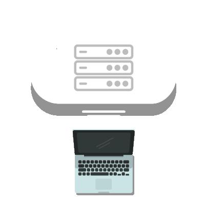 Nuvem e servidor da cibersegurança de computador