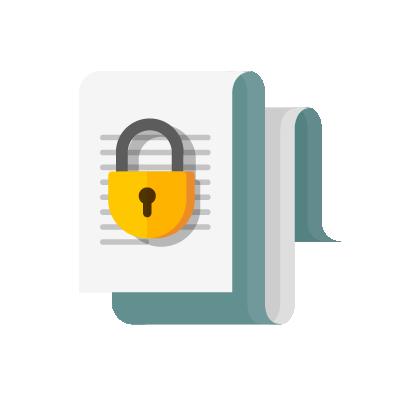 Cadeado protegendo conteúdo com cibersegurança