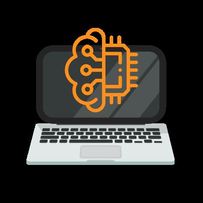 sistema de cibersegurança em ícone de computador