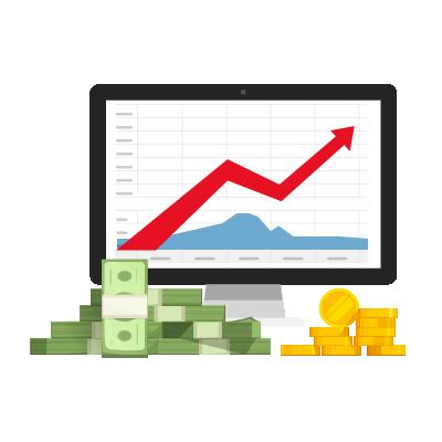 Gráfico de economias em relatório de cibersegurança.