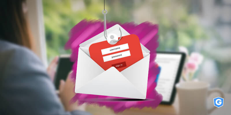 Woman's email account being fish from phishing with malware that steals