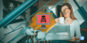 Phishing attacks HTTPS of a woman's computer