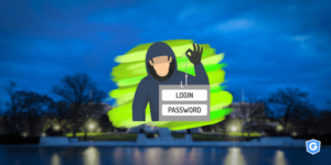 Hacker stealing login data with FBI director impersonation