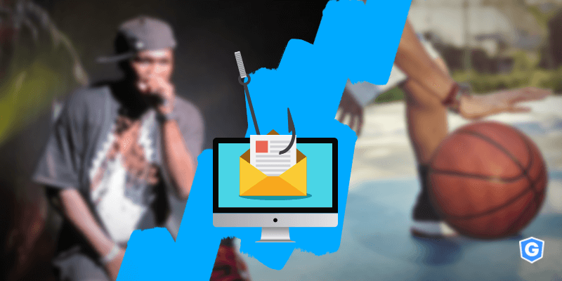 Hook fishing a phishing email on celebrities