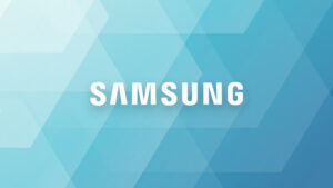 Samsung logo with flaws