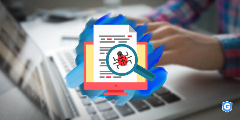 Magnifier showing common email threats