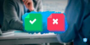False positive and false negative checkboxes