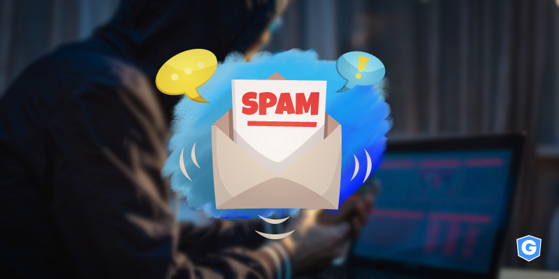 Spam email saying how to identify it in front of a hacker