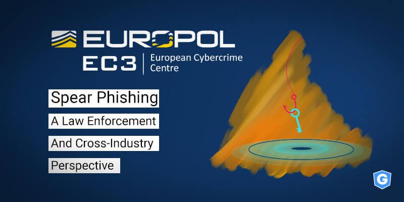 Capa do Relatório da Europol sobre phishing.