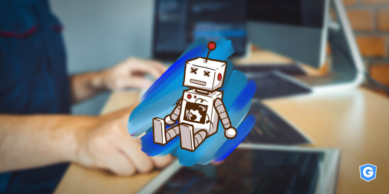 Robô bugando na cibersegurança.