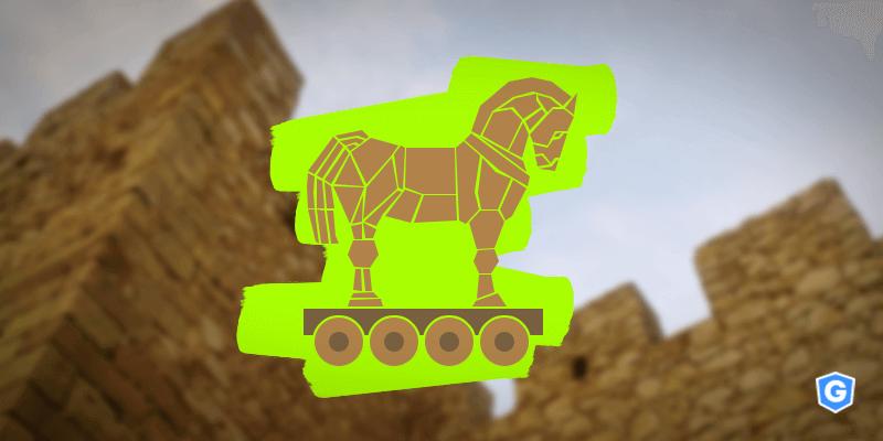 Trojan atacando segurança robusta.