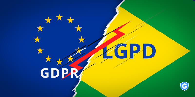 Comparação entre a LGPD brasileira e a GDPR europeia.
