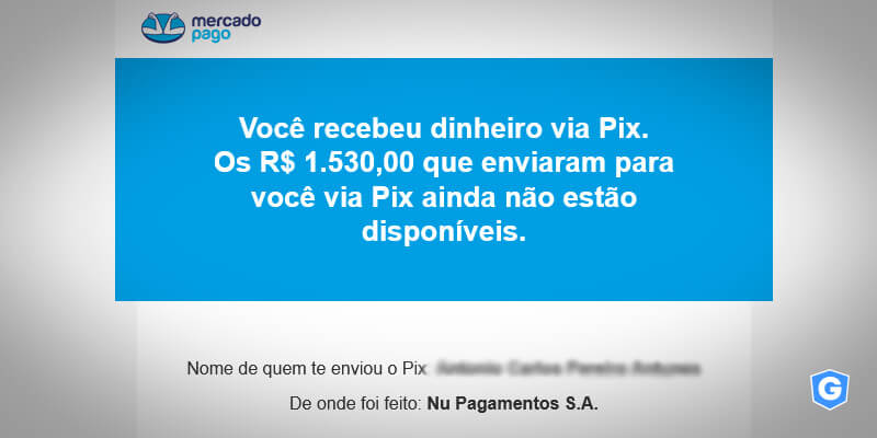 Golpe de e-mail usa imagem do Mercado Pago.