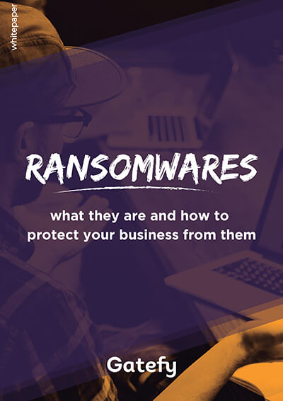 Ransomware white paper cover.