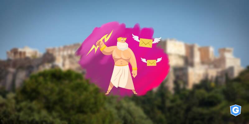 Greek god representing email security myths.