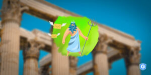 Deus grego recebendo os mitos da segurança de e-mail