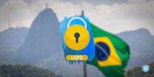 Bandeira do Brasil representando os princípios da LGPD.