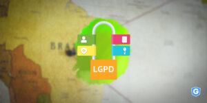 Map of Brazil representing LGPD.