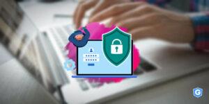 cadeado, escudo (senhas fortes e mecanismos de proteção) e outras boas praticas de segurança de e-mail